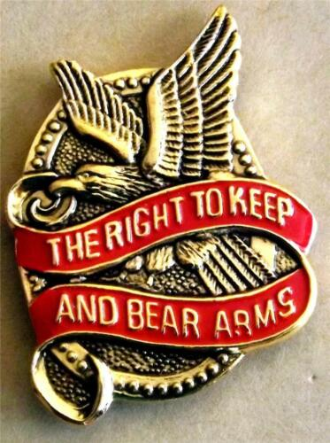 😎😎 2nd Amendment Right to Keep and Bear Arms Pin  Hat,lapel,shirt,etc Made USAOther Militaria - 135