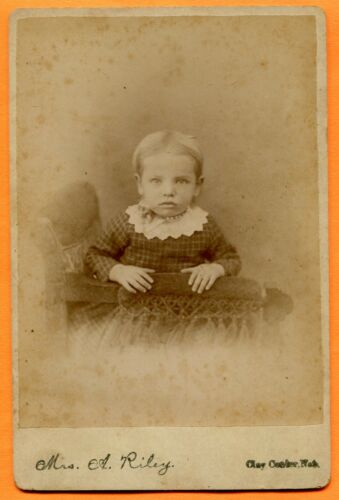 Clay Center, NE, Portrait of a Small Child, by Mrs. Riley, circa 1880s