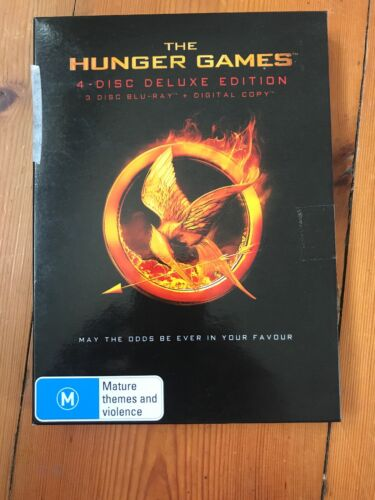 The Hunger Games 4-Disc Deluxe Edition Not Factory Sealed Blu-Ray +free post
