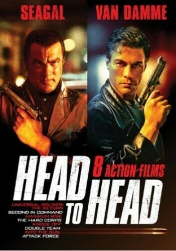Head to Head: Seagal v Van Damme: 8 Film Action Collection (2 Disc) DVD NEW