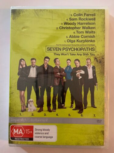Seven Psychopaths - Colin Farrell, Woody Harrelson (DVD) New Sealed