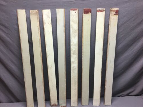 50 Linear Feet Pale Green Antique Wainscot Shabby Vtg Chic Crafts Frames 72-19J