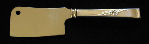 REED & BARTON CLASSIC ROSE STERLING CHEESE CLEAVER