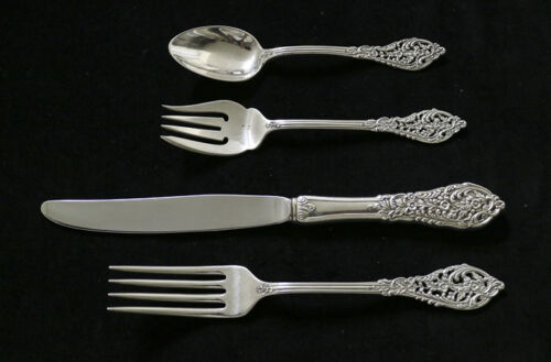 REED AND BARTON FLORENTINE LACE STERLING TRUE DINNER SIZE PLACE SETTING