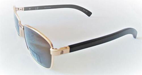 DUNHILL D5005 A 58-16-140 GENUIN WOOD SUNGLASSES GOLD BROWN