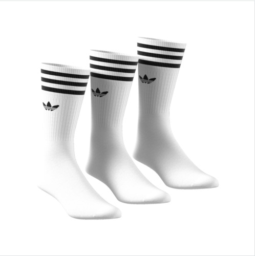 Adidas Originals 3 Pack Crew Logo Socks New in White UK size 5.5-12 <br/> Royal Mail 24 (1-2 DAY DELIVERY) | TRUSTED SELLER |