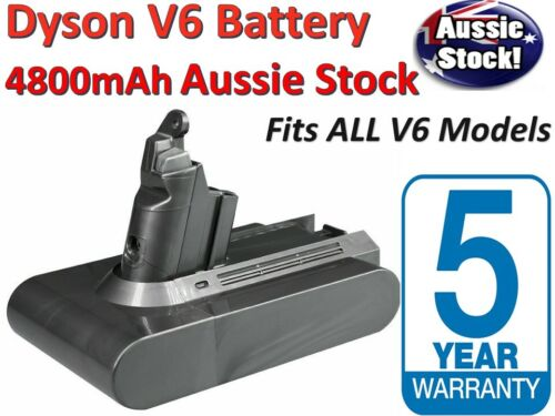 4800mAh 21.6V Vacuum Battery 4 Dyson V6 DC58 DC59 DC61 DC62 HANDHELD CORDLESS AU <br/> 5 yr Warranty - FAST Charge Support - AUSSIE Stock