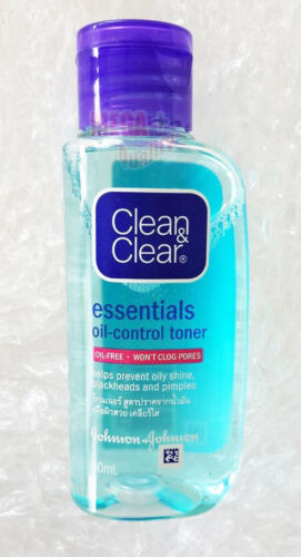 Clean and Clear Essentials Oil Control Toner Oil-Free Prevent Oily Shine 50ml