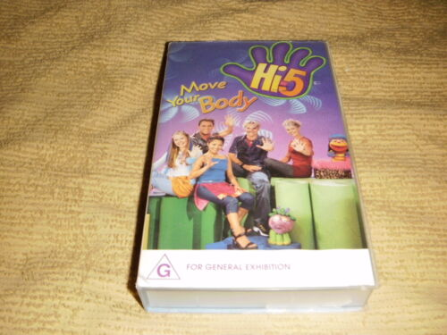 Hi 5 MOVE YOUR BODY kids VHS TAPE family children VIDEO PAL