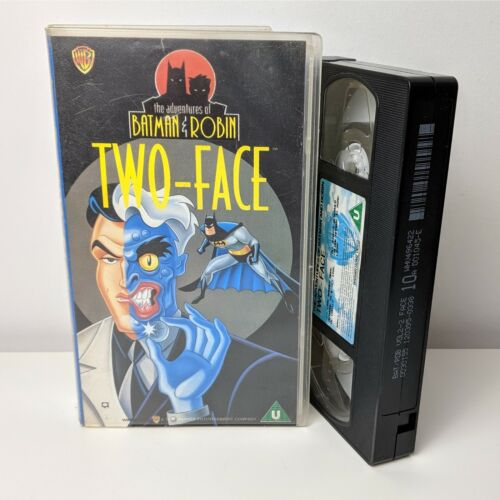 The Adventures Of Batman And Robin Two Face RARE VHS TAPE (animated show) PAL