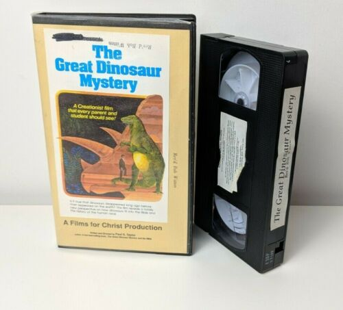 The Great Dinosaur Mystery Creationist Creationism Christian Rare VHS PAL Tape