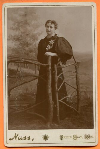 Green Bay, WI, Portrait of a Young Woman, by Nuss, circa 1890s
