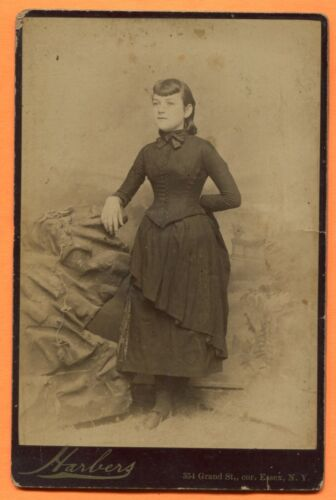 Essex, NY, Portrait of a Girl, by Harbers, circa 1880s