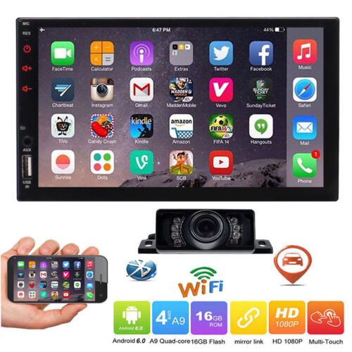 """Double 2 DIN 7"""" Android 10.0 Car Stereo GPS WIFI OBD2 DAB+ Navigation HeadUnit"""