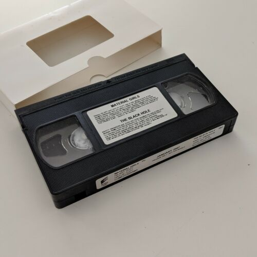 Material Girls and The Black Hole VHS DEALER PREVIEW Sony Pictures PAL OOP