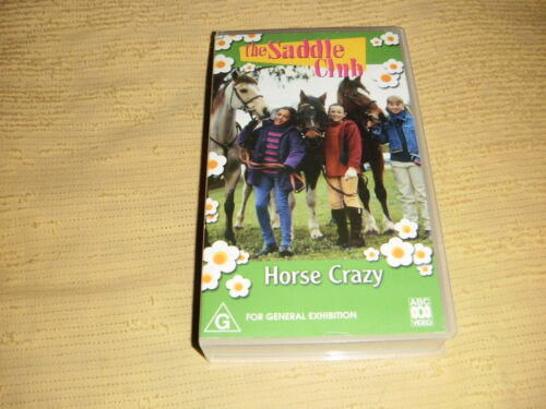 The Saddle Club Horse Crazy 2002 VHS TAPE family kids VIDEO PAL