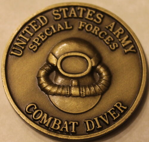 Combat Diver Special Forces Green Beret III Army Challenge Coin ...  Nice Shape!Original Period Items - 13983