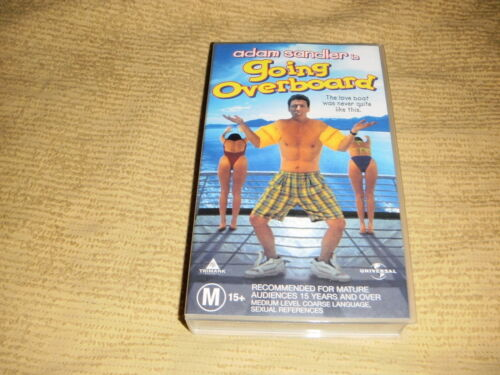 rare GOING OVERBOARD comedy 1989 VHS TAPE movie Adam Sandler VIDEO PAL