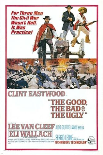the GOOD the BAD and the UGLY vintage movie poster CLINT EASTWOOD 24X36 west