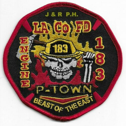 """California Los Angeles County  LIFEGUARD 4.5/"""" x 4/"""" size fire patch"""