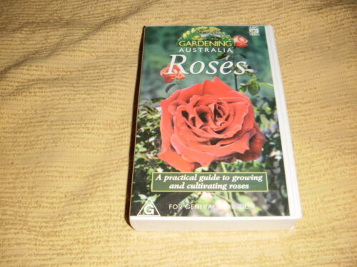 Gardening Australia ROSES Guide To Growing 1997 VHS TAPE near NEW PAL VIDEO