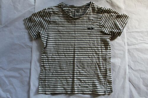 SIZE 7 MOSSIMO NAVY BLUE WHITE STRIPED V NECK T-SHIRT TOP 🐥 BEST KIDS CLOTHES