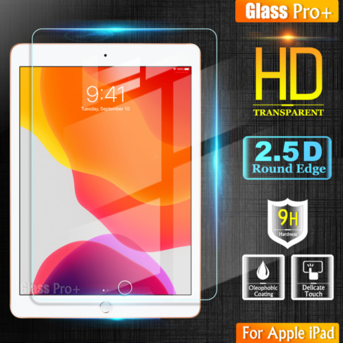 For Apple iPad 7th 8th 6th 5th Gen Air 1 2 Tempered Glass Pro+ Screen Protector
