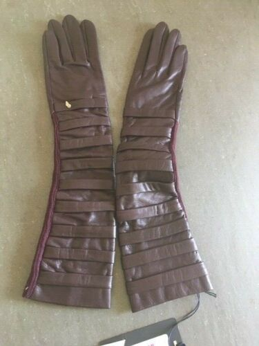Oblique Creations guanti in pelle lunghi/woman long gloves
