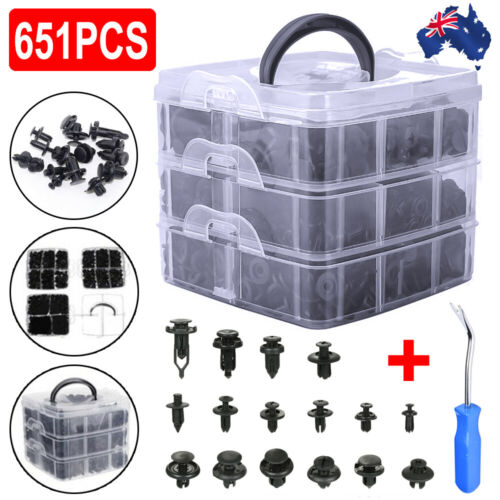 800PCS Car Trim Body Clips Kit Rivet Retainer Door Panel Bumper Plastic Fastener