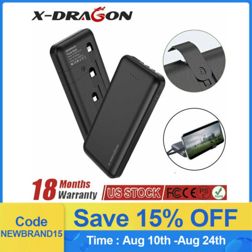 External Battery Charger 500000mAh Portable Power Bank Built-in 2 USB For Phone