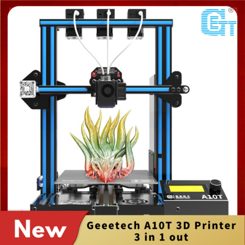 New Geeetech A10T 3 in1 out Mix-color 3D Printer LCD2004 FDM Fit Auto-Level Wifi
