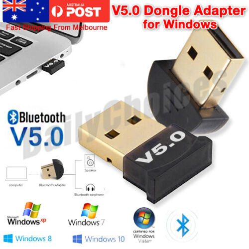 Bluetooth V5.0 Wireless USB Mini Dongle Adapter For Windows Laptop PC Universal