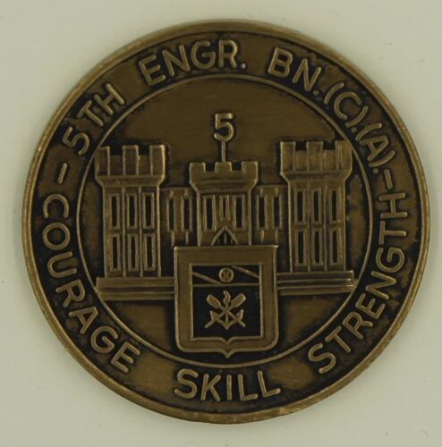 5th Engineer Battalion (C) (A) ser#'d bronze Army Challenge CoinOriginal Period Items - 13983