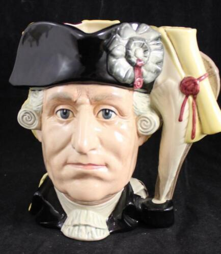 Royal Doulton TWO-SIDED JUG ANTAGONISTS Seige of Yorktown D6749 A+
