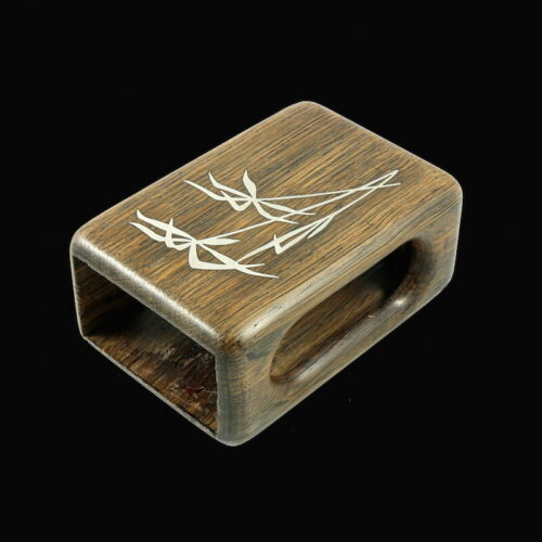 Andersen & Søhoel. Bog Oak Match Box Holder with Inlaid Sterling Silver - 1960s