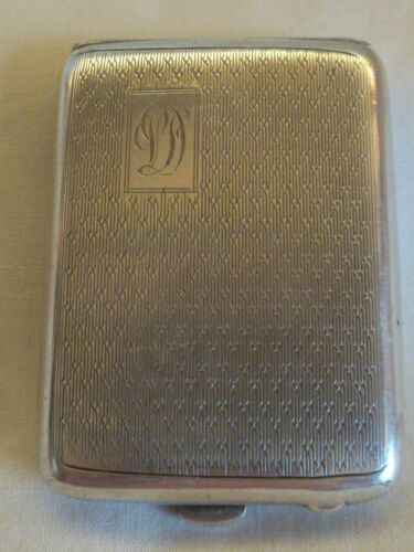 ANTIQUE ENGLISH STERLING SILVER VERY SMALL CARD CASE - BIRMINGHAM 1902 - BY J.A