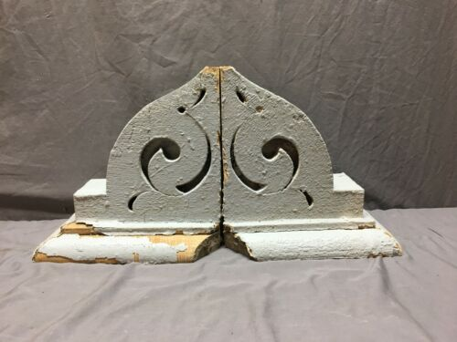 Pair Antique Roof Corbels Shelf Brackets 11x12 Vtg Architectural Salvage 300-19J