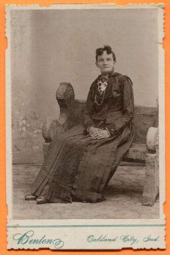 Oakland City, IN, Portrait of a Seated Woman, by Benton, circa 1890s