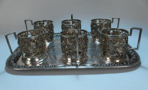 Antique Hand Crafted Repousse Silver Set.