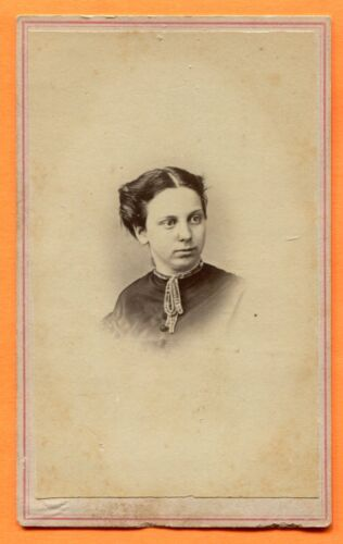 CDV Madison, WI, Portrait of a Young Woman, by Jones, circa 1860s Backstamp