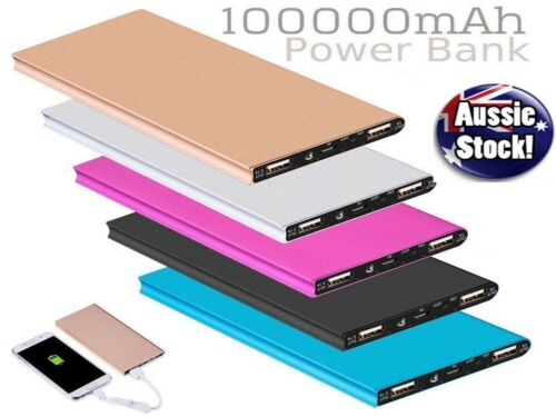 Ultra-Thin 100,000mAh Battery Charger Power Bank For Samsung S20 S10 iPhone iPad