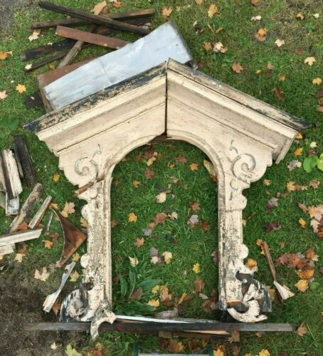 Antique Arch Mansard Dormer Window Pediment Vtg Architectural Salvage  322-19J