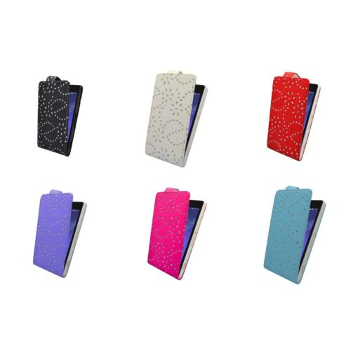 CASE FOR SONY XPERIA Z2 GLITTER FLIP PU LEATHER IN VARIOUS COLORS POUCH COVER