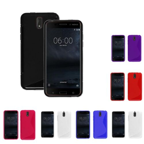 Case For Nokia 6 S-Line Silicone Gel Skin Tough Shockproof Phone Cover
