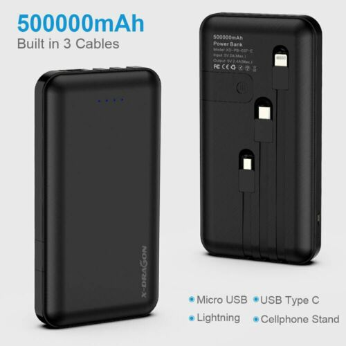 Portable Power Bank 500000mAh Dual USB External Battery Charger for Cell Phone