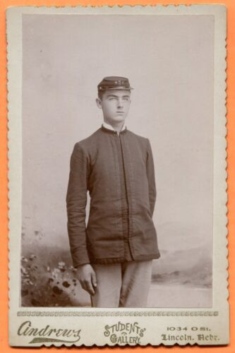 Lincoln, NE, Portrait of Cadet Soldier WNC 7, by Andrews, Students Gallery 1890s