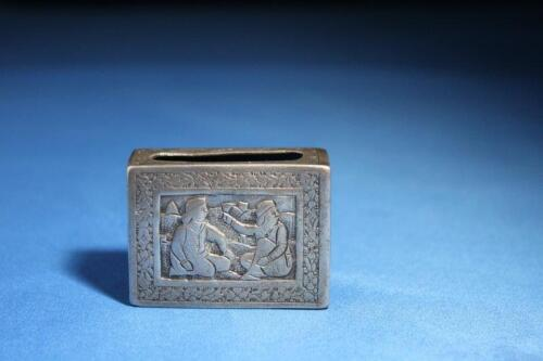 Antique Middle Eastern Silver Match Safe Box , 19th C.
