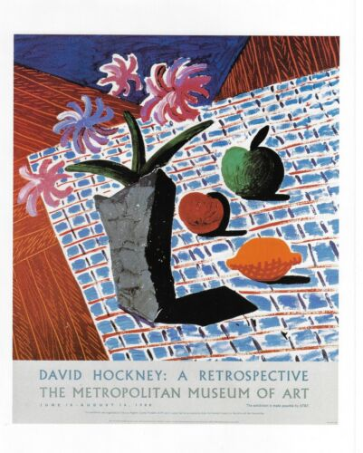 "DAVID HOCKNEY POSTER ART ""FLOWERS & FRUIT""  METROPOLITAN MUSEUM OF ART NEW YORK"