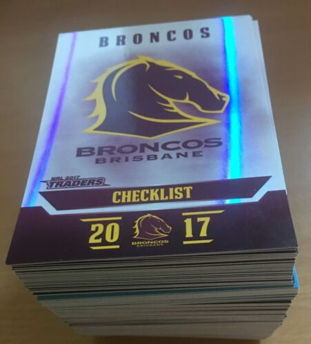 2017 NRL Traders PEARL PARALLEL SPECIAL Full Set 160 CardsRugby League (NRL) Cards - 25583