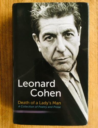 SIGNED Leonard Cohen DEATH OF A LADY'S MAN 2010 Poetry Rare Hallelujah